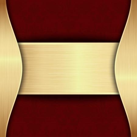 テキストのための場所と金と赤のテンプレート