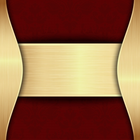 Gold and red template with place for text