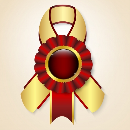 Red vector prize ribbon with place for text Vector