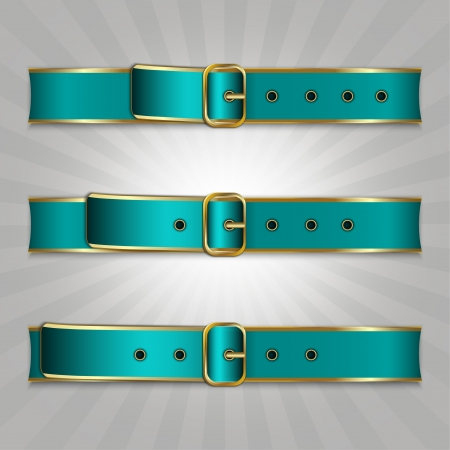 Belts with buckle, illustration of slimming process Stock Vector - 14585600