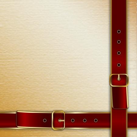 beige stof: Riemen met gespen achtergrond voor dekking