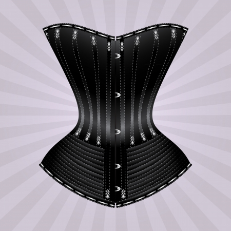 illustration of corset inspired by historic corsets Vector