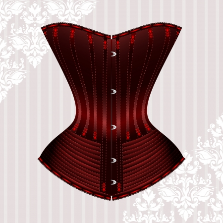 illustration of corset inspired by historic corsets