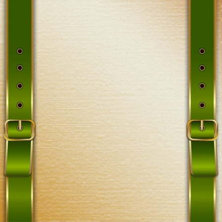 Belts with buckles background for cover Vector