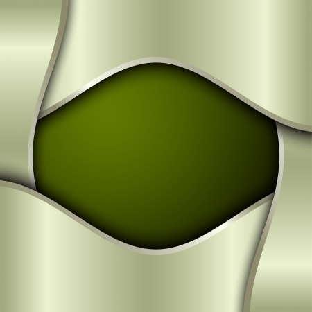Green metal background with place for text