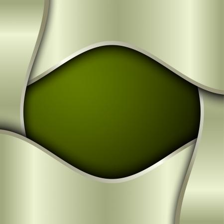 platina: Groene metalen achtergrond met plaats voor tekst Stock Illustratie