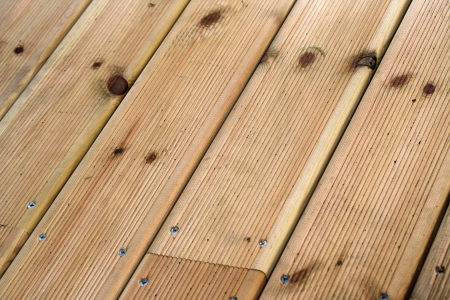 Wooden floor macro texture, diagonal view photo