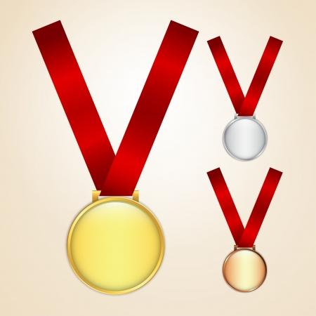 Conjunto de oro, plata y bronce