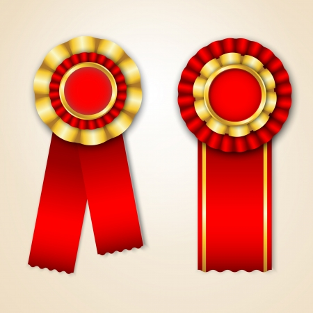 Set of prize ribbons with place for text Vector