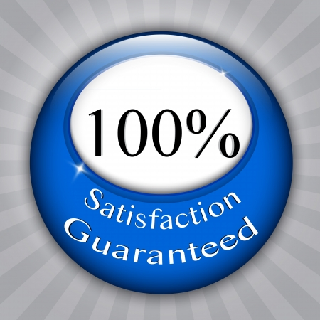 100%  Satisfaction Guaranteed blue seal Stock Vector - 14879512
