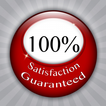 100%  Satisfaction Guaranteed red seal Stock Vector - 14879513