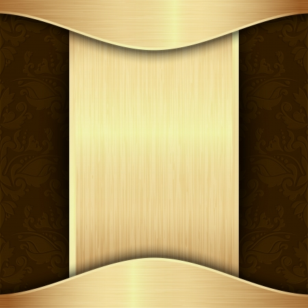 �gold: Oro y plantilla de fondo marr�n con el lugar para el texto Vectores