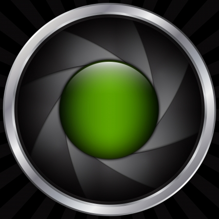 Abstract graphic aperture and lens background
