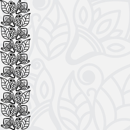 Black And White Filigree Floral Background Vector