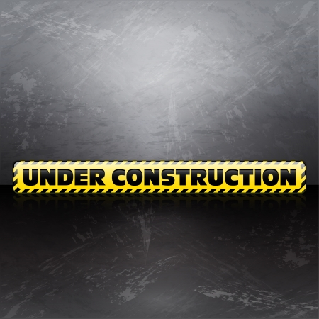 Under construction vector textured background Vector