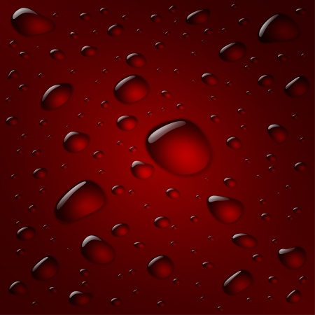 macro: Vector red water drop background Illustration