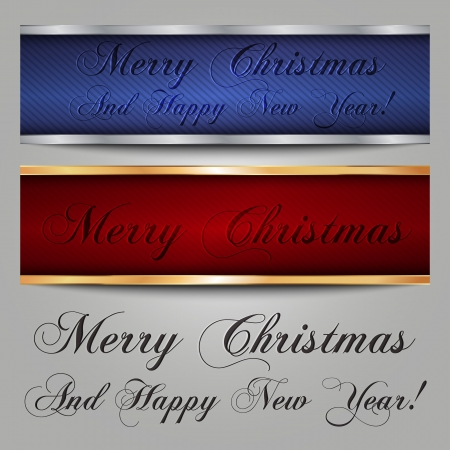 marry christmas: Marry Christmas banners y texto
