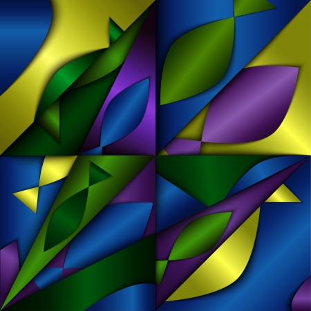 dimentional: Dimentional abstract background, composition with fish silhouettes