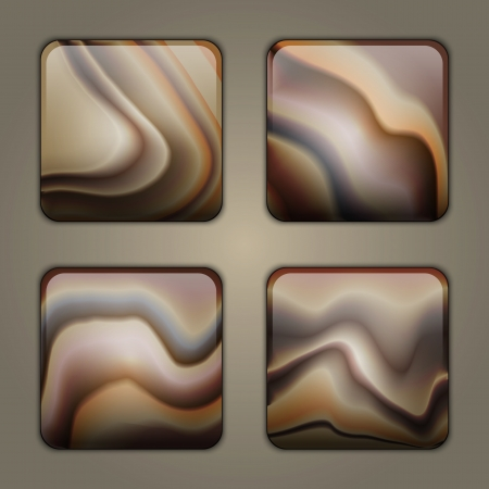 Application buttons with sandstone texture Vector