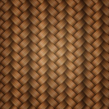 Seamless tiling wicker texture, vector Stock Vector - 17583200
