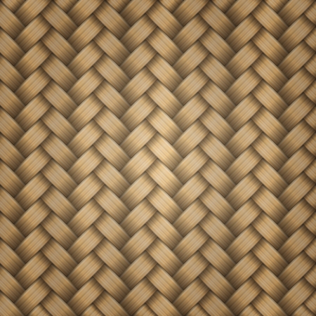 Seamless tiling wicker texture, vector