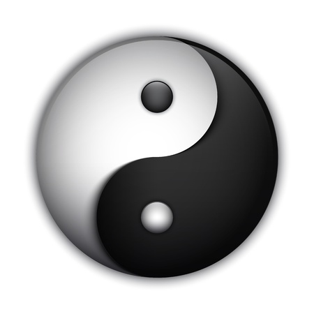 Yin and Yang symbol, highly detailed vector
