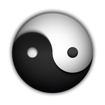 Yin and Yang symbol, highly detailed vector Vector