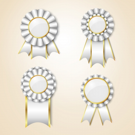 elite: Set of prize ribbons with place for text