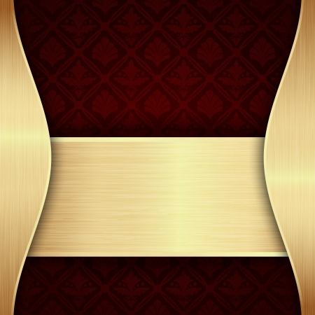 Dark red and gold background Vector