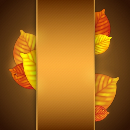 Autumn leaves background. Illustration contains gradient mesh Vector