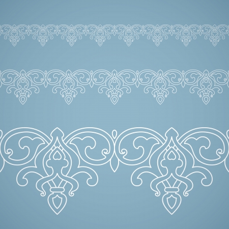 Detailed seamless floral ornament. Inspired by old arabian ornaments Vector
