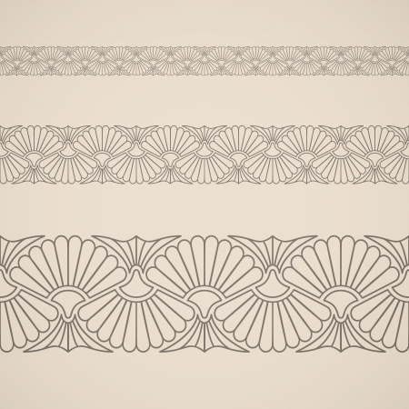 Seamless floral ornament. Inspired by persian ornaments Illustration