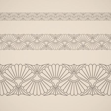 Seamless floral ornament. Inspired by persian ornaments Ilustração