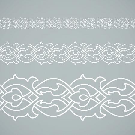 verschnörkelt: Seamless floral Fliesen Grenze. Inspiriert von alten osmanischen und arabischen Ornamenten
