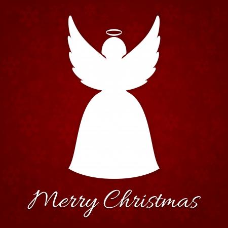 silueta de angel: Una tarjeta de Navidad muy feliz con �ngel