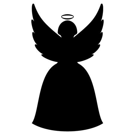 Christmas angel silhouette  イラスト・ベクター素材
