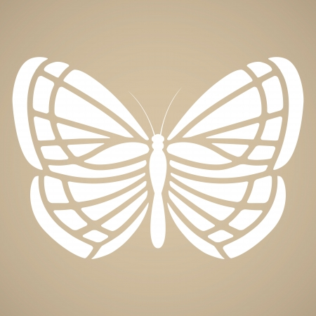 butterfly tattoo: Butterfly silhouette in tattoo style