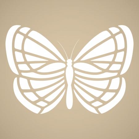 butterfly tattoo: Butterfly silhouette in tattoo style