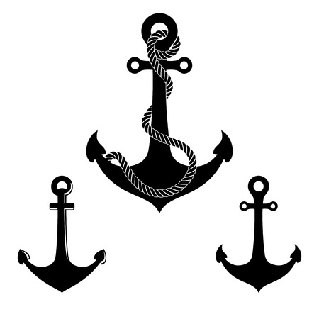 Graphic anchor set. Vector Vector