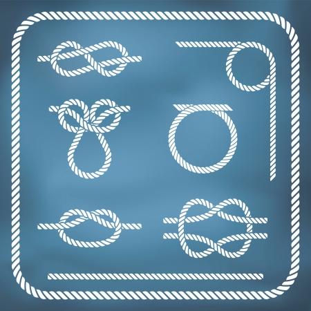 Corde nautique KNotes vecteur, gradient de maillage Banque d'images - 23268897