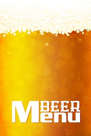 Beer Menu  background. Highly detailed, gradient mesh Vector