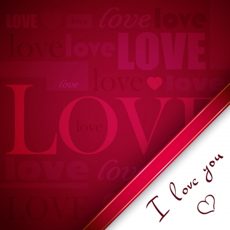 Background for St. Valentines Day with typography composition Vector