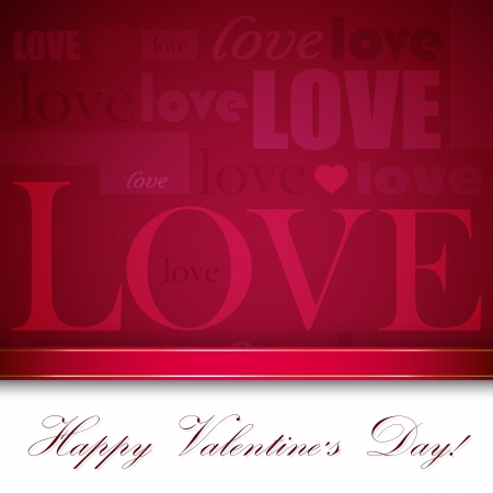 white background illustration: Background for St. Valentines Day with typography composition
