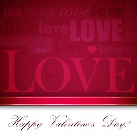 hintergrund liebe: Hintergrund f�r St. Valentinstag mit Typografie Zusammensetzung Illustration