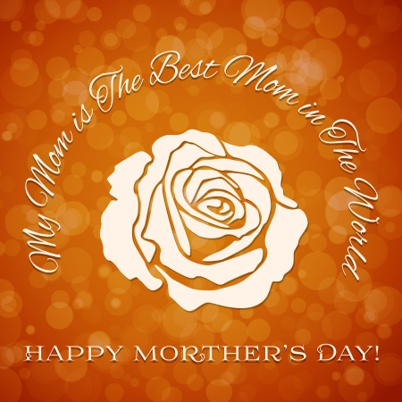 mothering: Mothers day background with rose Illustration