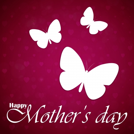 mothers day background: Sfondo giorno di madri con le farfalle Vettoriali