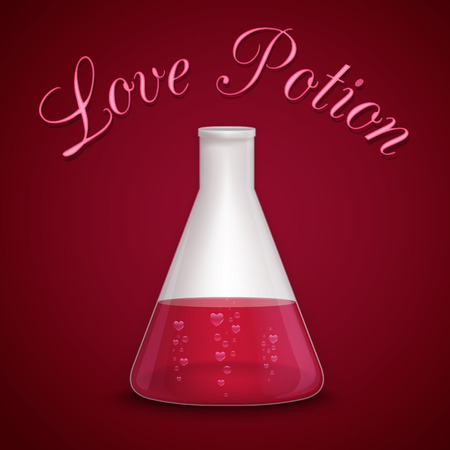St. Valentines day - Love potion background Vector