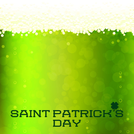 St Patricks Day card, green beer background