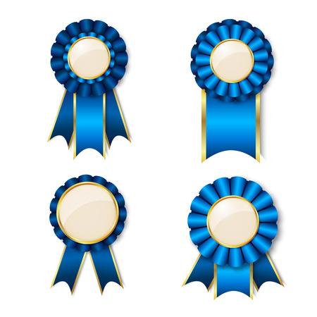 一連のテキストのための場所を持つベクトル賞リボン  イラスト・ベクター素材