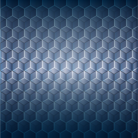 Abstract background with 3d illusion Vector